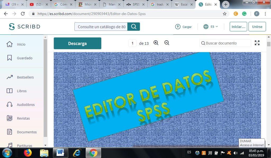 editor de datos